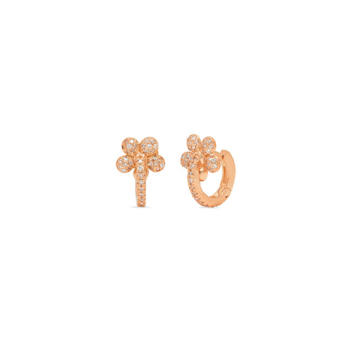 """Flower Huggies Rose Gold"" EARRINGS"