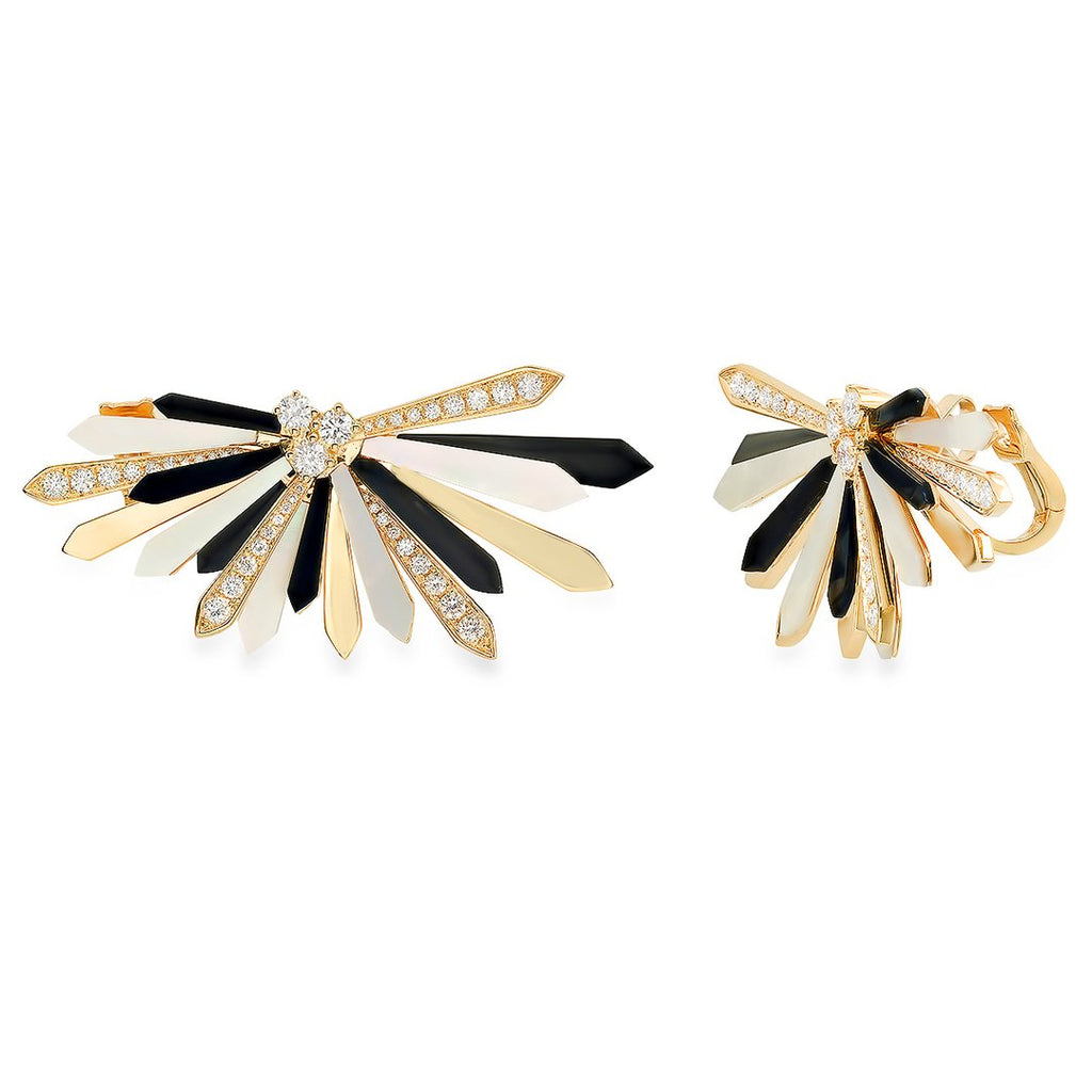 """Penacho 18K Yellow Gold"" Earrings"