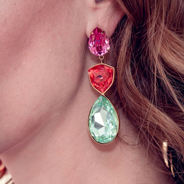 """CASCADE"" MULTI-COLOUR MONO EARRING"