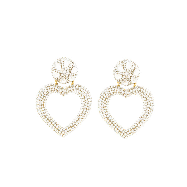 """HEART"" CRYSTAL EARRINGS"