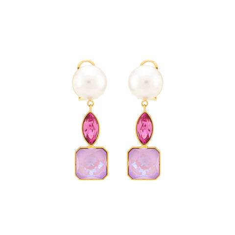"""CASCADE PEARLS PINK"" EARRINGS"