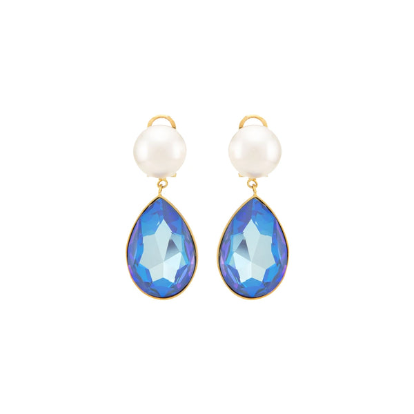 """CASCADE PEARLS"" BLUE EARRINGS"