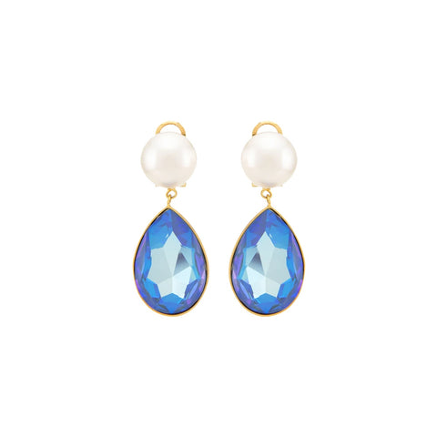 """CASCADE PEARLS BLUE"" EARRINGS"