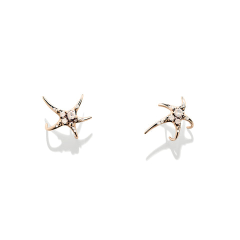 """Mermaid"" 18K Rose Gold Earrings"