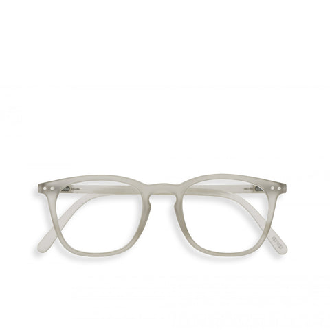 """E"" Defty Grey Reading Glasses"