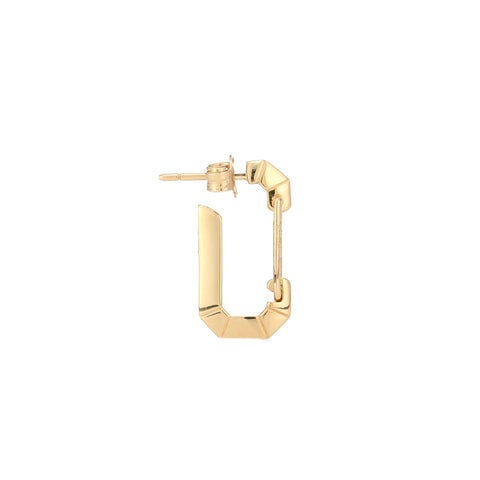 """ÉERA"" SMALL YELLOW GOLD MONO EARRING"