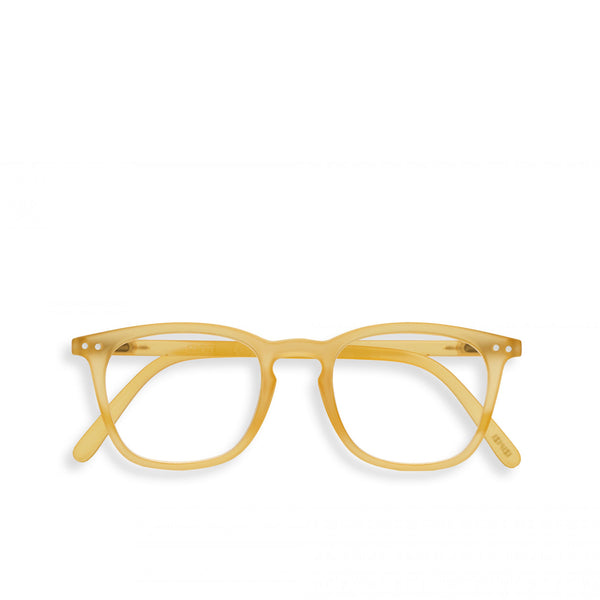 """E"" Yellow Honey Reading Glasses"