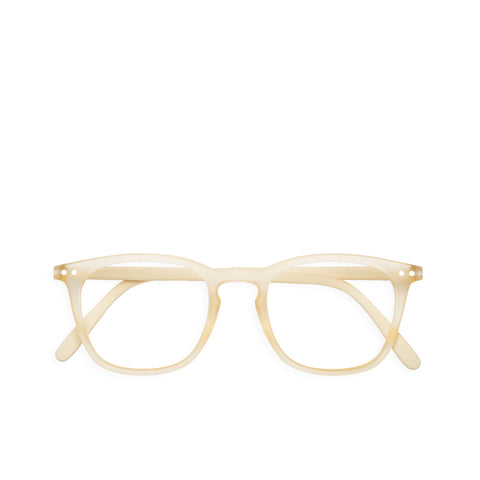 """E"" Neutral Beige Reading Glasses"