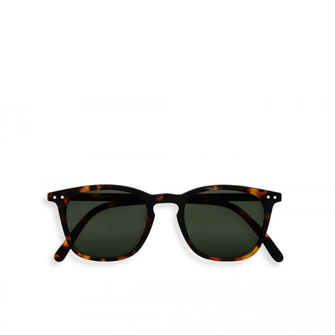 """E"" Tortoise Green Lenses Sunglasses"