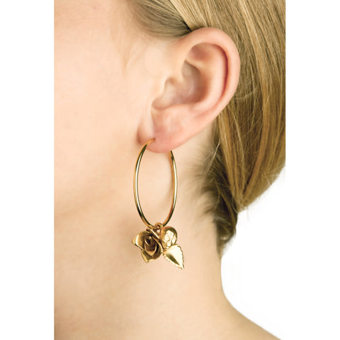"""Earring with Rose and Alien Big"""