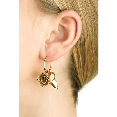 """Earring with Rose and Alien Small"""