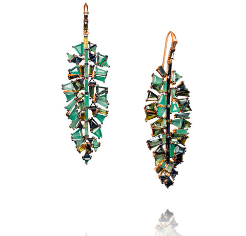 """Bahia Banana Leaf Earrings"""