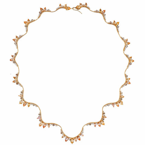 """Electric"" Imperial Topaz 18K Gold Necklace"