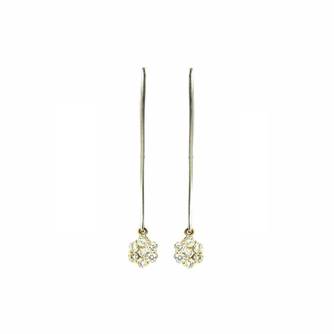 """Fancy Yellow Diamond"" 18K Gold Earrings"