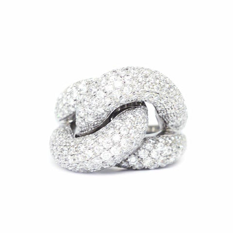 """Diamond Twist"" 18K Gold Ring"