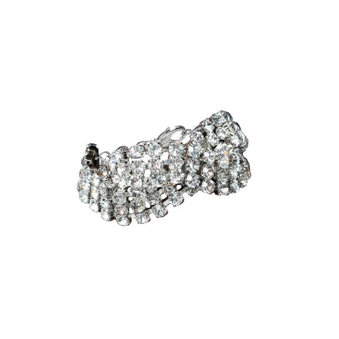 """Silver Braided Crystal"" Bracelet"