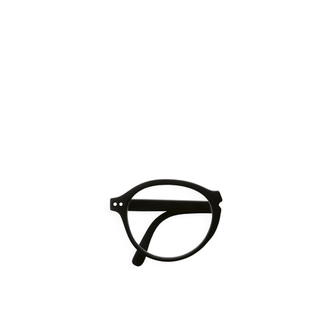 """F"" Black Reading Glasses"