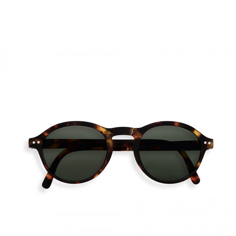 """F"" Tortoise Green Lenses Sunglasses"