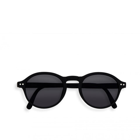 """F"" Black Grey Lenses Sunglasses"