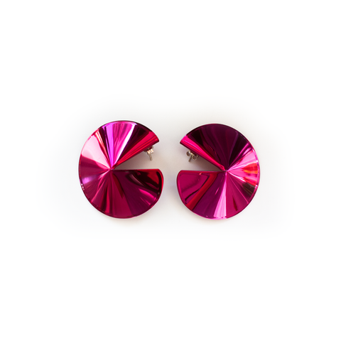 """Fortune Cookie Earrings"" Pink"