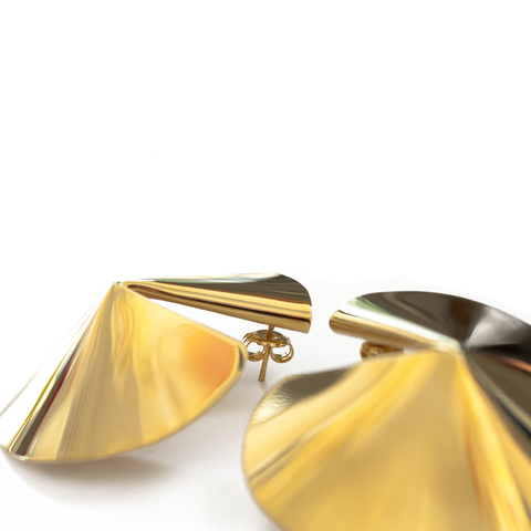 """Fortune Cookie Earrings"" Gold"
