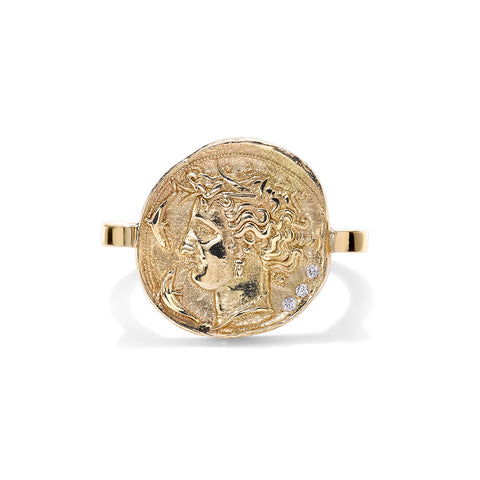 """Goddess Diamond Coin"" Ring"