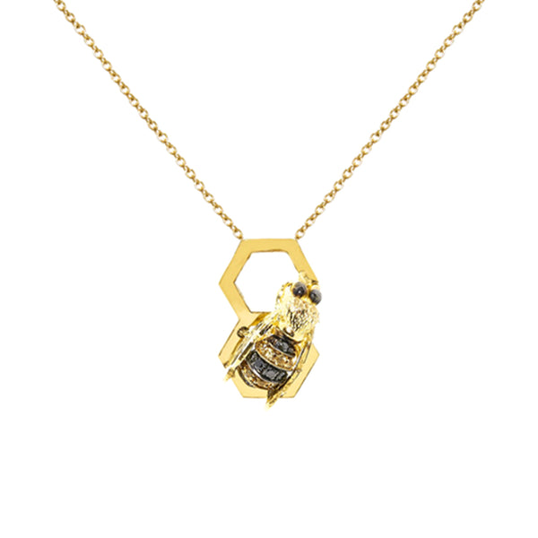 """Bee Hive"" Necklace"