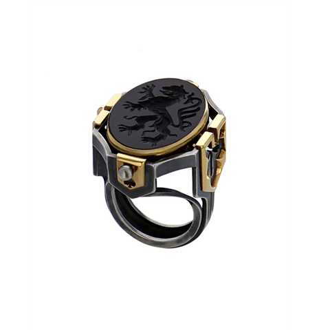 """Seal Earth"" 18K Gold Ring"