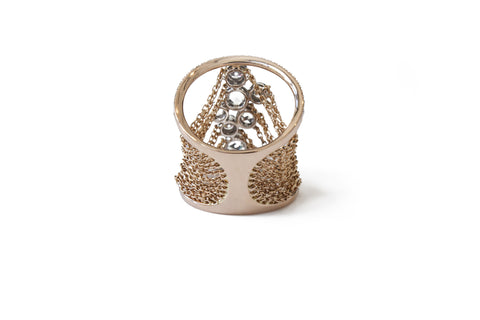 """Large Rosecut Diamonds"" 18k Gold Ring - ARCHIVES - 2"