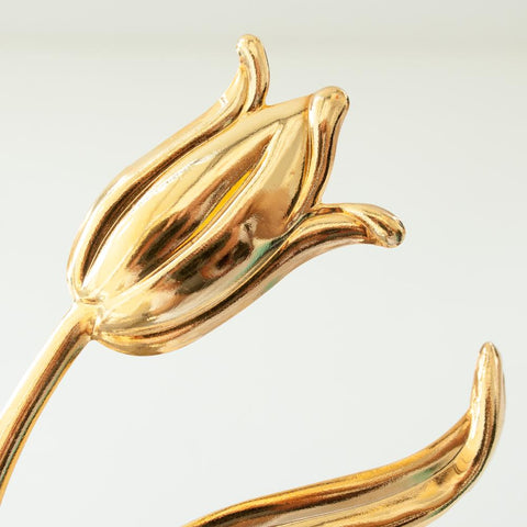 """TULIP"" GOLD-PLATED ARM CUFF"