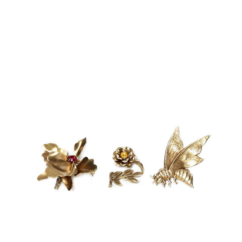 """Bee, Orchid and Flower"" Rings - ARCHIVES"