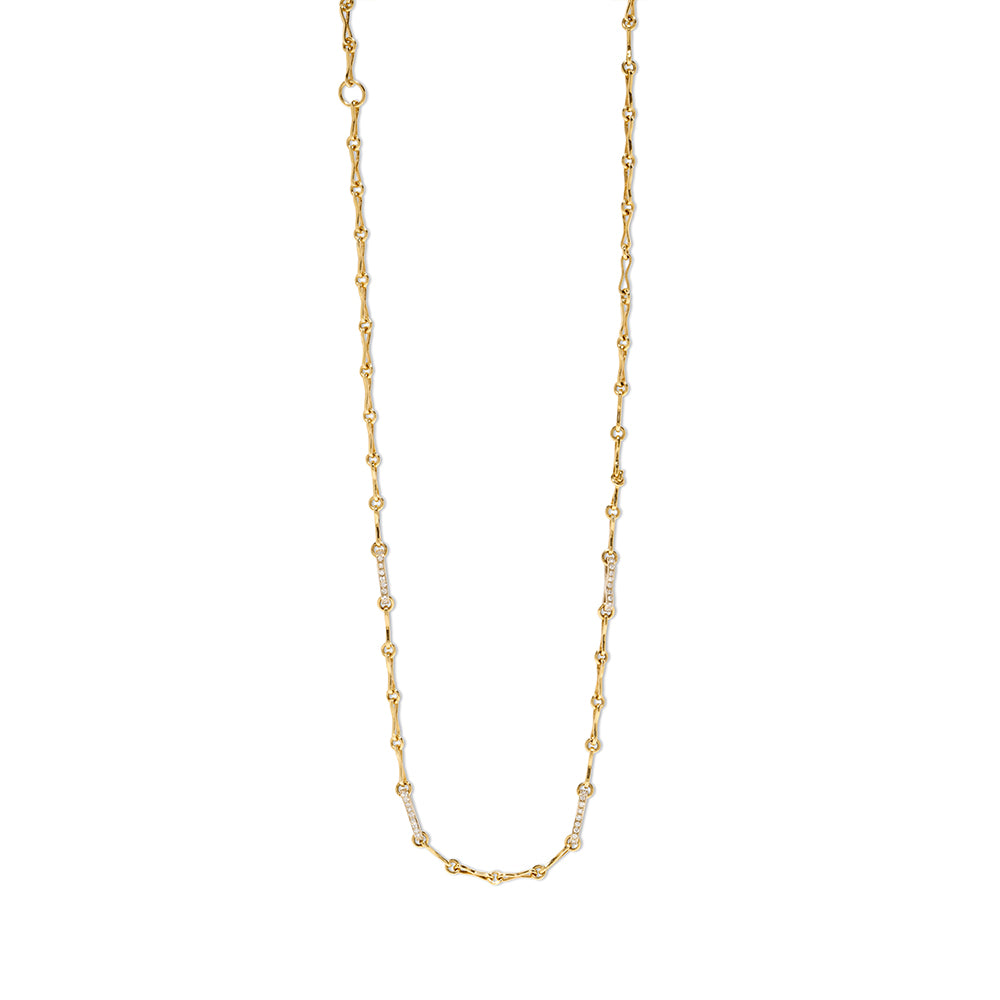 """SMALL CIRCLE LINK HANDMADE WITH PAVE"" CHAIN"