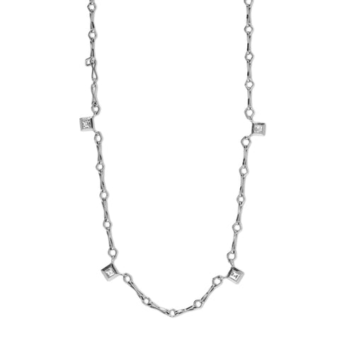 """SMALL CIRCLE LINK HANDMADE WITH CARRE DIAMONDS"" CHAIN"