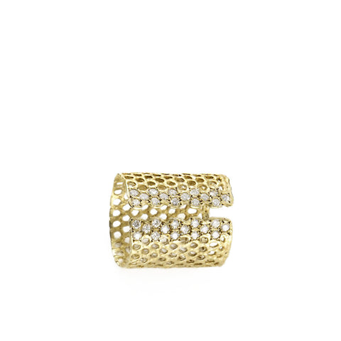 """Honey Comb"" Ring"
