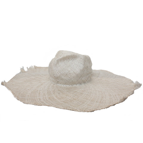 """Oakdyed Sisal Straw"" Natural Hat"