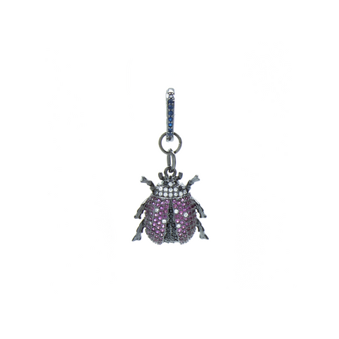 """Purple Bug"" Mono Earring"
