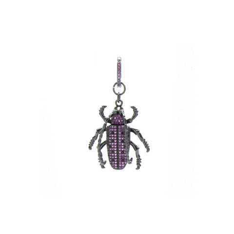 """Purple Beetle"" Mono Earring"