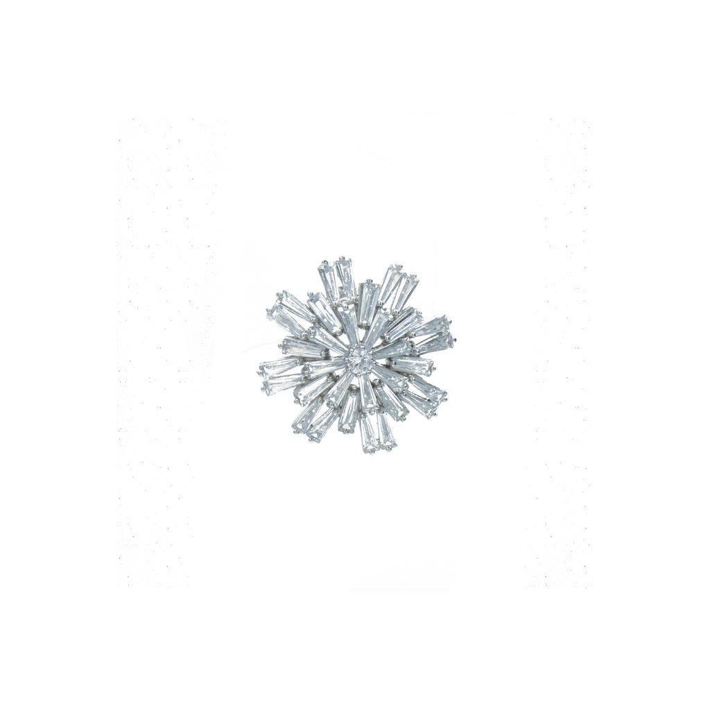 """Medium Snowflake Crystal Stud"" Mono Earring"