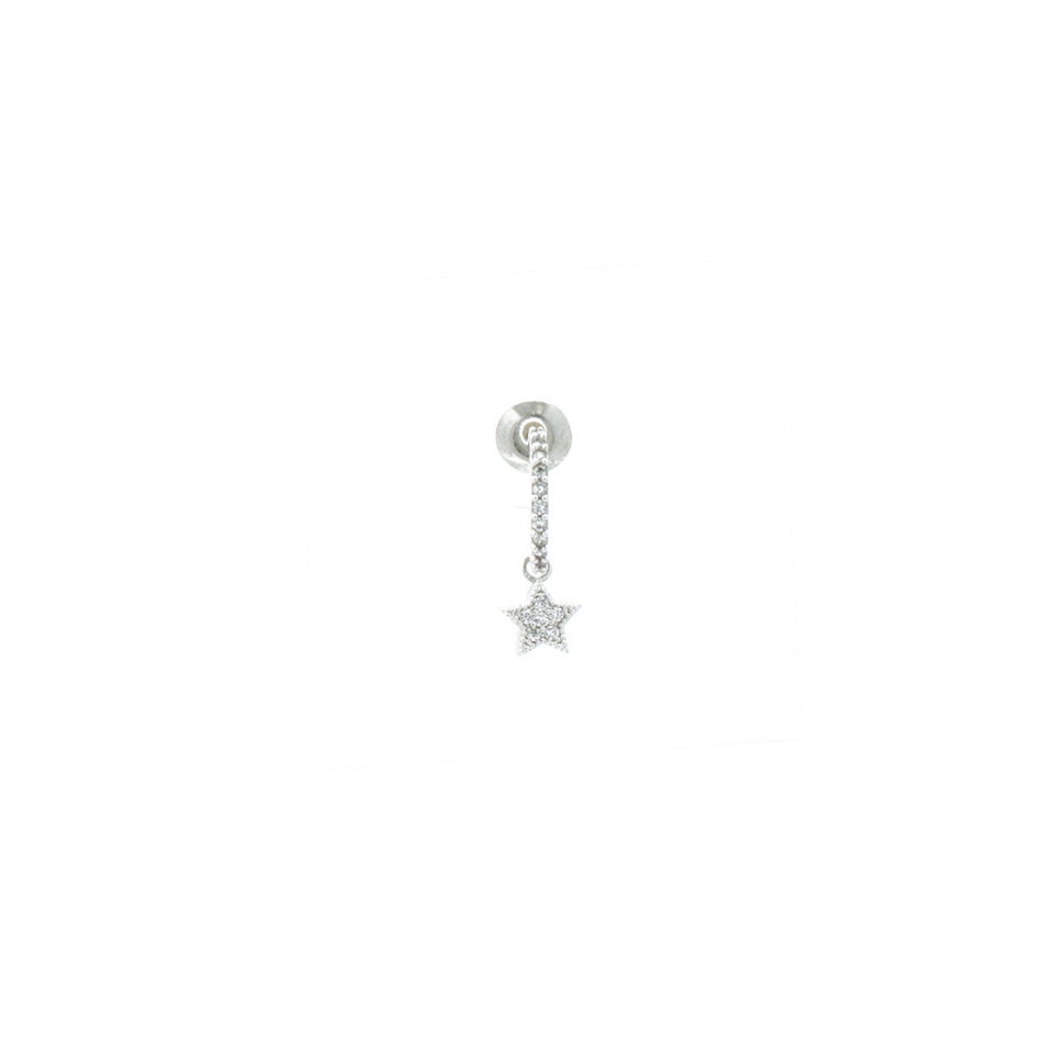 """Star Drop"" Mono Earring"