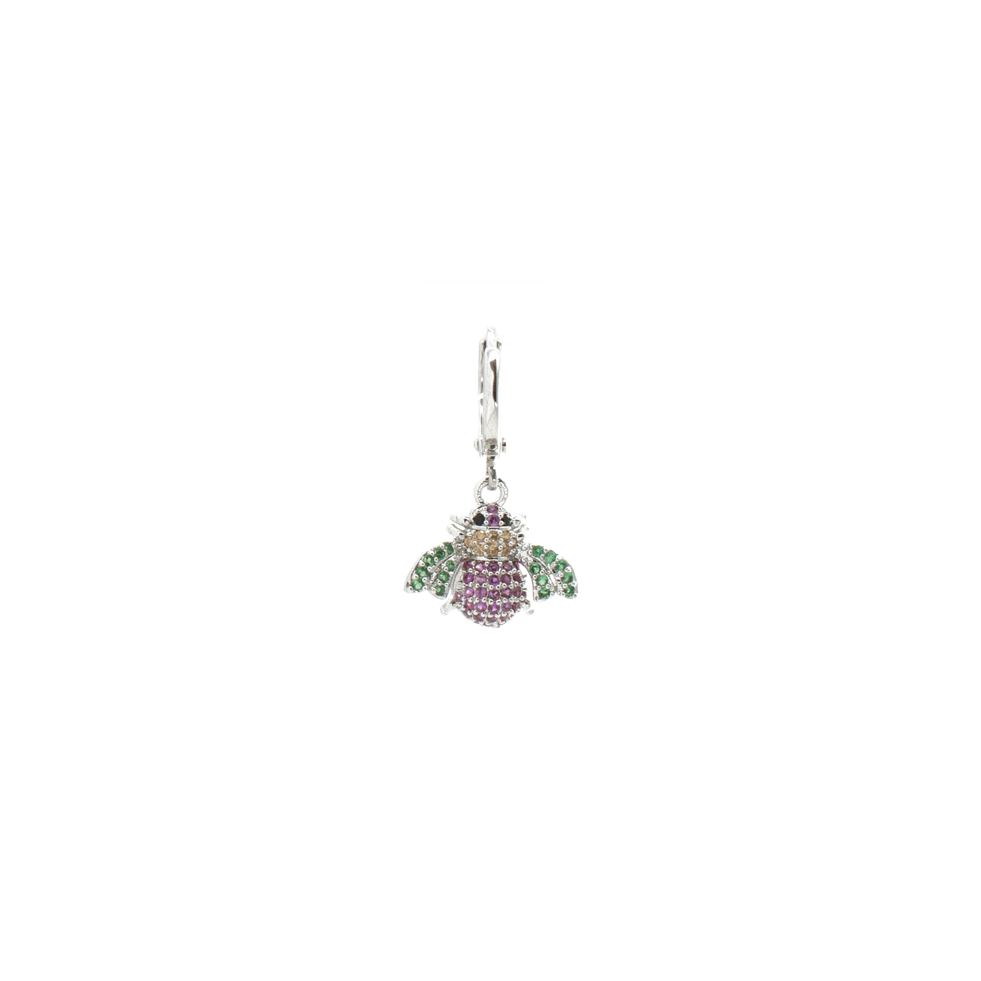 """Multicolour Bug"" Mono Earring"