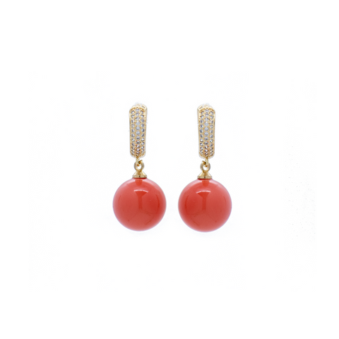 """Crystal Red Drop"" Earrings"