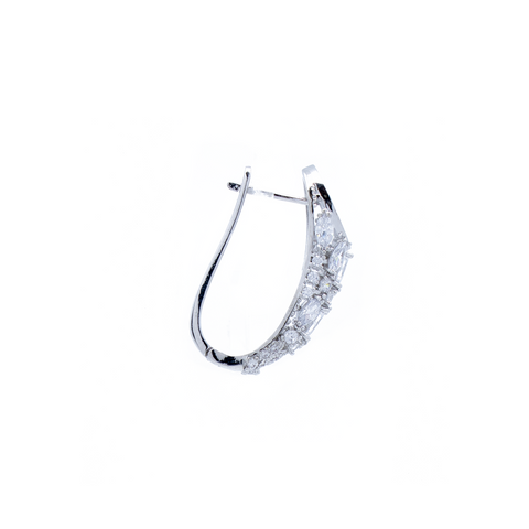 """Medium Crystal Hoop"" Mono Earring"