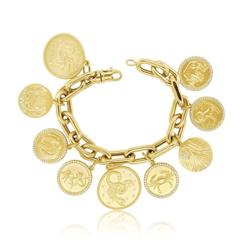 """Zodiac Charm Yellow Gold"" Bracelet"
