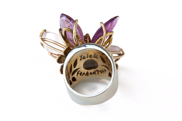 """Pink Diamond Butterfly"" 18K Gold Ring - ARCHIVES - 3"