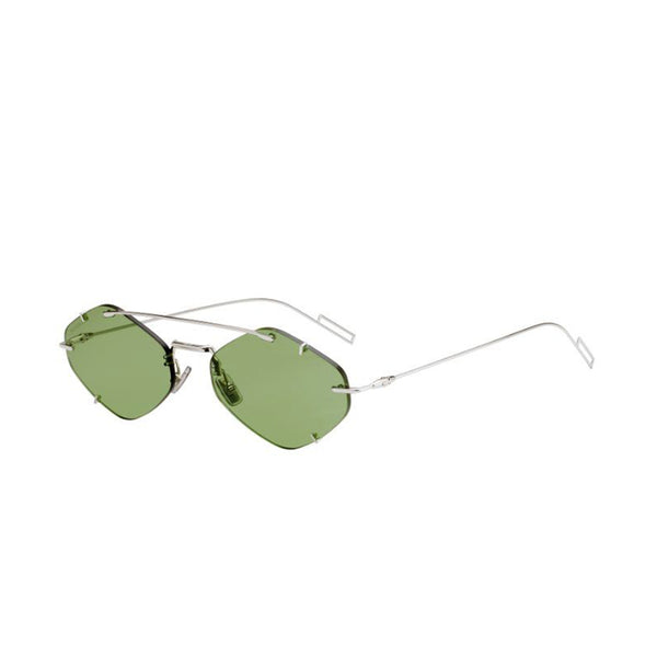 """Inclusion"" 010 PALLADIUM / Light Green Sunglasses"