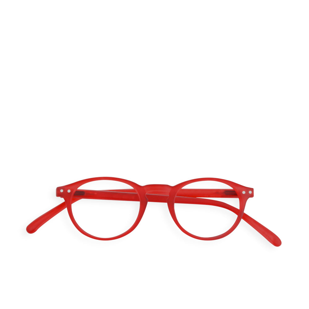 """A"" Red Crystal Reading Glasses"
