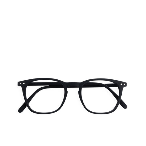 """E"" Black Reading Glasses"