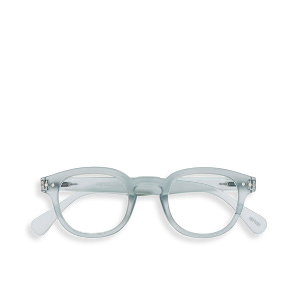 """C"" Frosted Blue Reading Glasses"