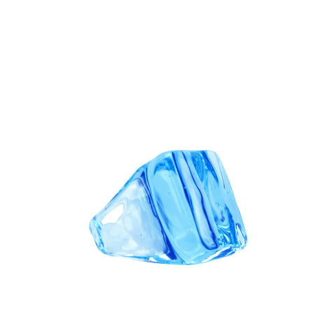 """Ice Cube Aquamarine Glass"" Ring - ARCHIVES - 1"