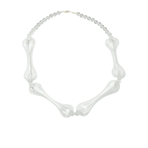 """Bones Transparent Glass"" Necklace"